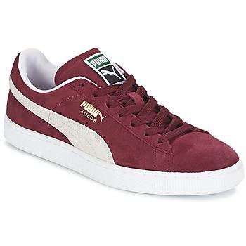 Zapatos Zapatillas bajas Puma SUEDE CLASSIC Rojo / Blanco