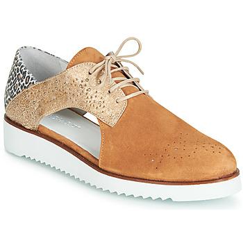 Zapatos Mujer Derbie Regard RIXULO V3 VEL CAMEL Marrón