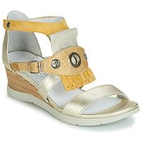 Zapatos Mujer Sandalias Regard RUBIKA V3 VEL JAUNE Amarillo