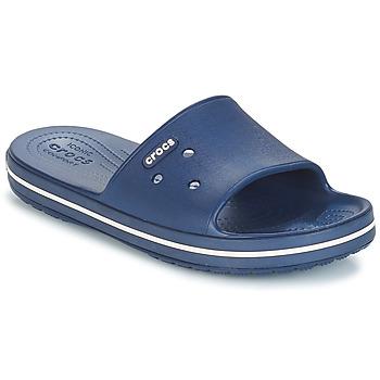 Zapatos Chanclas Crocs CROCBAND III SLIDE Marino / Blanco
