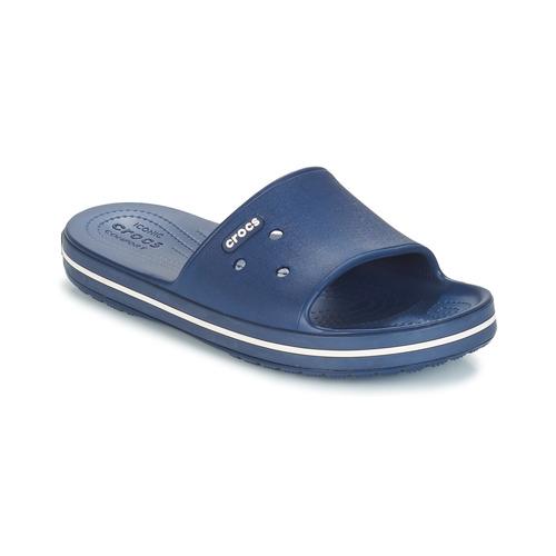 Crocs CROCBAND III SLIDE Marino / Blanco - Envío gratis | ! - Zapatos Chanclas