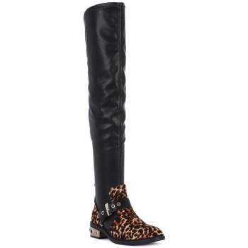 Zapatos Mujer Botas a la rodilla Elvio Zanon PONY NAPPA Nero