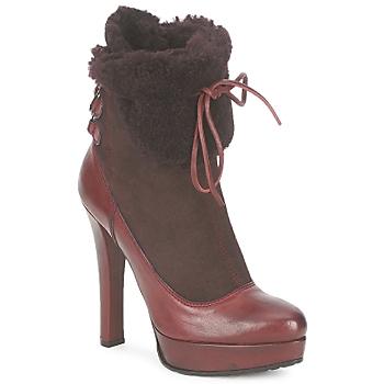 Zapatos Mujer Botines Sebastian ELIATY Burdeo