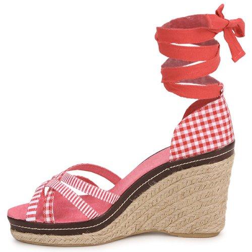 Mujer Stylistclick Zapatos Rojo Sandalias Angela dQCxBrtsh