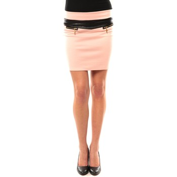 textil Mujer Faldas Nina Rocca Jupe J.X Fashion Rose Rosa