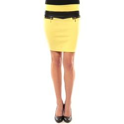 textil Mujer Faldas Nina Rocca Jupe J.X Fashion Jaune Amarillo
