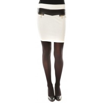 textil Mujer Faldas Nina Rocca Jupe J.X Fashion Blanc Blanco