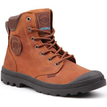 Zapatos Hombre Botas de caña baja Palladium Pampa Cuff WP Lux 73231-733-M marrón