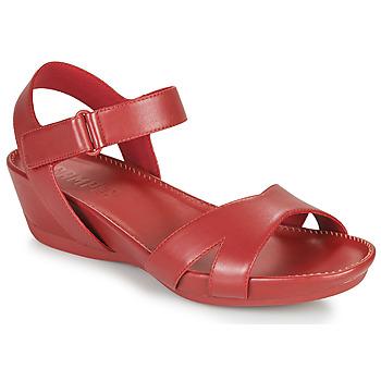 Zapatos Mujer Sandalias Camper Micro Rojo