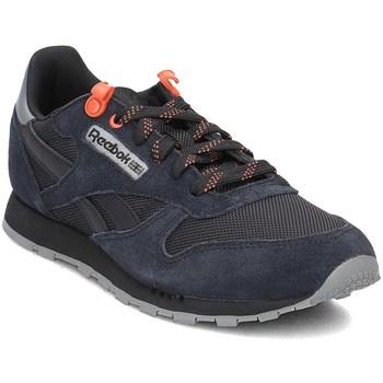 Zapatos Niños Zapatillas bajas Reebok Sport Classic Leather Negro