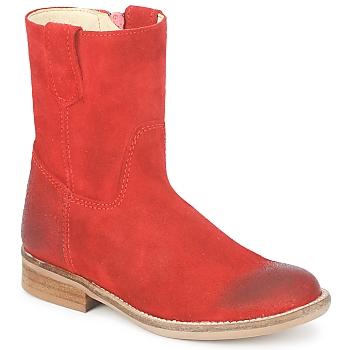 Zapatos Niña Botas de caña baja Hip DIRAN Rojo