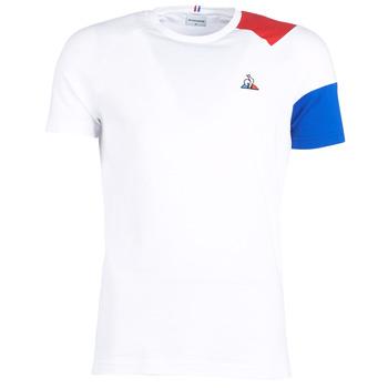 textil Hombre camisetas manga corta Le Coq Sportif ESS Tee SS N°10 M Blanco / Rojo / Azul