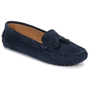 Zapatos Mujer Mocasín Casual Attitude GATO Marino