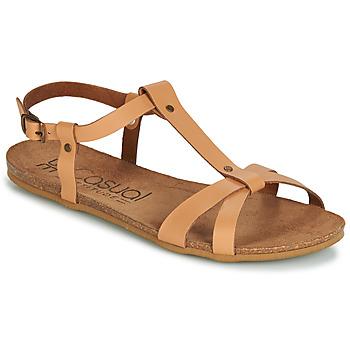 Zapatos Mujer Sandalias Casual Attitude JALIYAXE Camel