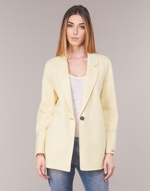 textil Mujer Chaquetas / Americana Oakwood OSLO Amarillo / Claro