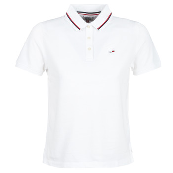 textil Mujer polos manga corta Tommy Jeans TJW TOMMY CLASSICS POLO Blanco