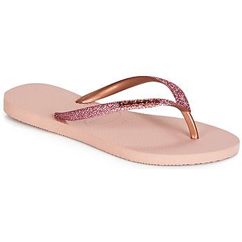 Zapatos Mujer Chanclas Havaianas SLIM GLITTER Rosa