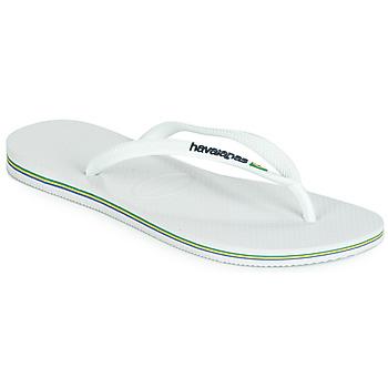 Zapatos Mujer Chanclas Havaianas SLIM BRASIL LOGO Blanco