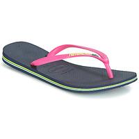 Zapatos Mujer Chanclas Havaianas SLIM BRASIL LOGO Navy / Pink