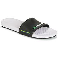 Zapatos Hombre Chanclas Havaianas SLIDE BRASIL Blanco-negro