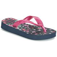 Zapatos Niña Chanclas Havaianas KIDS FLORES Marino / Rosa