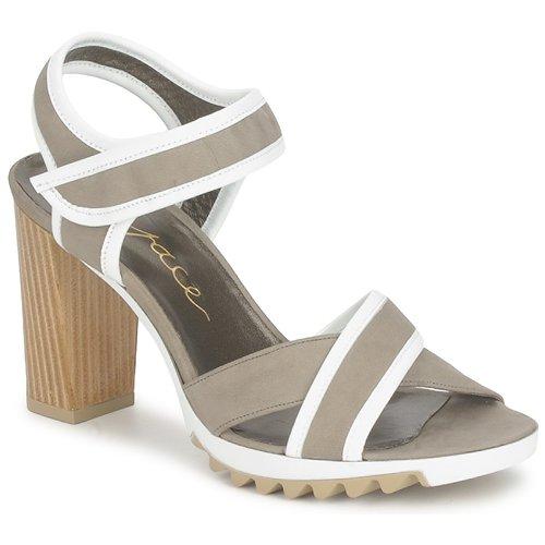 Espace GENIEVRE Gris / Blanco - Envío gratis | ! - Zapatos Sandalias Mujer