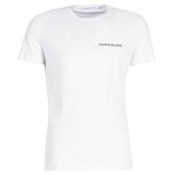 textil Hombre camisetas manga corta Calvin Klein Jeans CHEST INSTITUTIONAL SLIM SS TEE Blanco