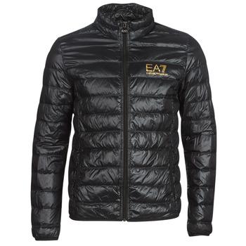 textil Hombre plumas Emporio Armani EA7 TRAIN CORE ID DOWN LT Negro / Oro
