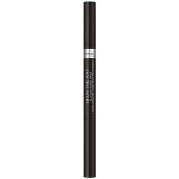 Belleza Mujer Perfiladores cejas Rimmel London Brow This Way Fill&sculpt Eyebrow Definer 004-soft Black