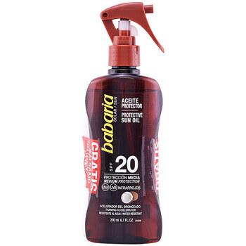 Belleza Protección solar Babaria Solar Aceite Coco Spf20 Pistola Lote 2 Pz