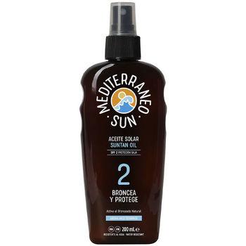 Belleza Protección solar Mediterraneo Sun Carrot Suntan Oil Dark Tanning Spf2  200 ml