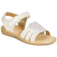 Zapatos Niña Sandalias Citrouille et Compagnie JAFILOUTE Blanco