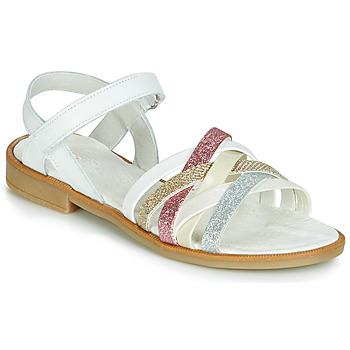 Zapatos Niña Sandalias Citrouille et Compagnie JARILOU Blanco