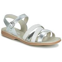 Zapatos Niña Sandalias Citrouille et Compagnie JAGUINOIX Gris / Plata