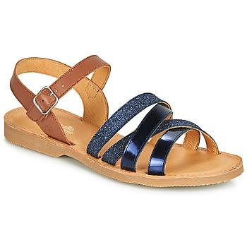 Zapatos Niña Sandalias Citrouille et Compagnie JOLICOTE Marino / Camel