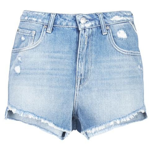 Replay PABLE Azul / 010 - Envío gratis | ! - textil Shorts / Bermudas Mujer