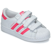 Zapatos Niña Zapatillas bajas adidas Originals SUPERSTAR FOUNDATIO Blanco / Rosa