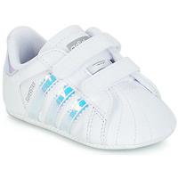 Zapatos Niña Zapatillas bajas adidas Originals SUPERSTAR CRIB Blanco
