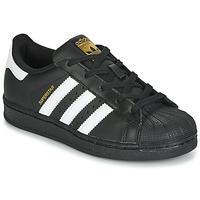 Zapatos Niños Zapatillas bajas adidas Originals SUPERSTAR C Negro / Blanco