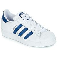 Zapatos Niños Zapatillas bajas adidas Originals SUPERSTAR J Blanco / Azul