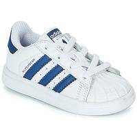 Zapatos Niños Zapatillas bajas adidas Originals SUPERSTAR EL Blanco / Azul