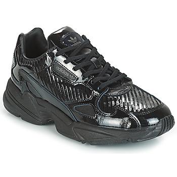 Zapatos Mujer Zapatillas bajas adidas Originals FALCON W Negro / Glitter