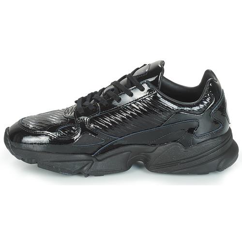 Adidas Bajas Zapatillas NegroGlitter W Zapatos Originals Falcon Mujer pSUMVz