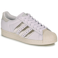 Zapatos Mujer Zapatillas bajas adidas Originals SUPERSTAR 80s W Blanco / Beige