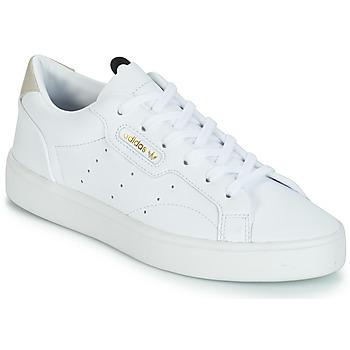 Zapatos Mujer Zapatillas bajas adidas Originals adidas SLEEK W Blanco