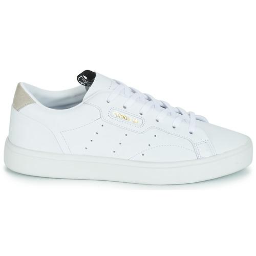 Bajas Zapatos Sleek Mujer Adidas Zapatillas Blanco W Originals WHEYID92