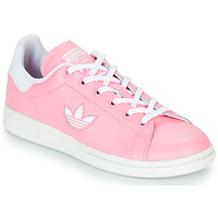 Zapatos Niña Zapatillas bajas adidas Originals STAN SMITH J Rosa