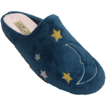 Zapatos Pantuflas Calzamur Zapatilla invierno mujer abierta detrás azul