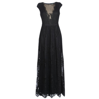 textil Mujer vestidos largos Lauren Ralph Lauren CAP SLEEVE LACE EVENING DRESS Negro