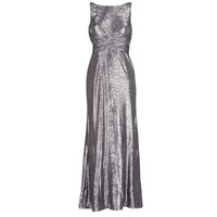 textil Mujer vestidos largos Lauren Ralph Lauren SLEEVELESS EVENING DRESS GUNMETAL Gris / Plata